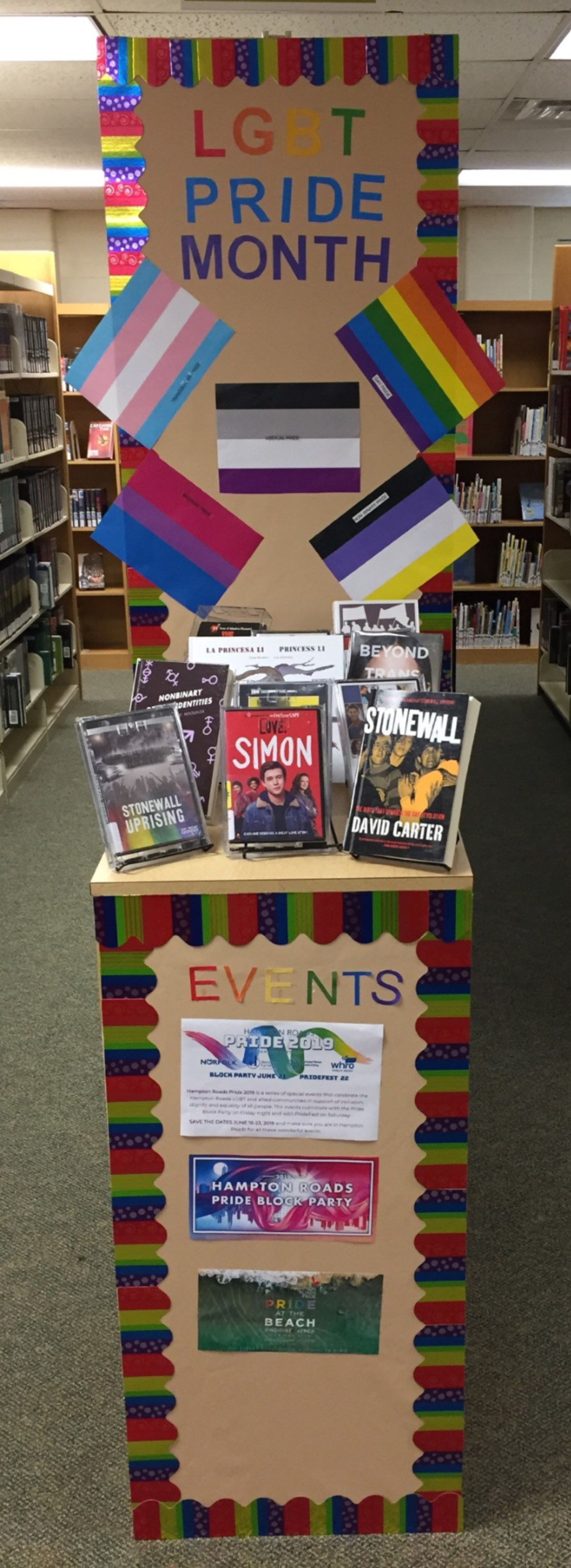 Library Display:  LGBT Month 2019