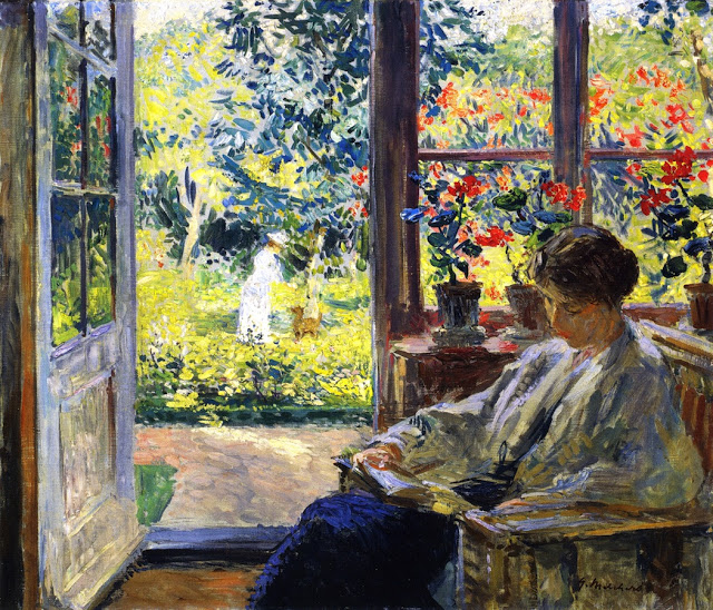 "Image:  ""Melchers Gari Woman Reading By A Window"" by Gari Melchers"
