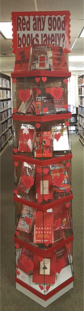 "Image:  Display_""Red"" Any Good Books Lately, 2.2019"