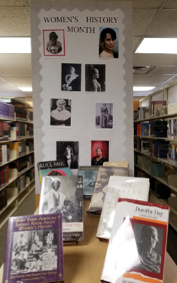 Display:  Women's History Month, March 2019