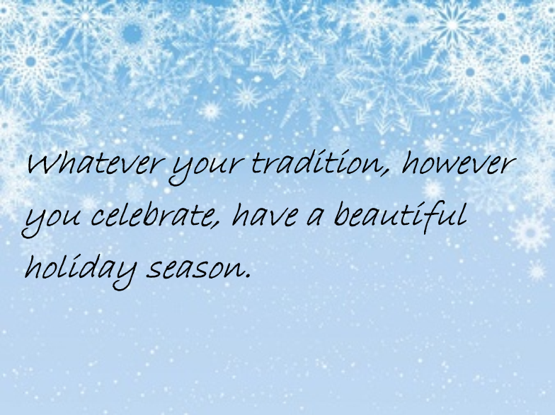 Happy Holiday Note