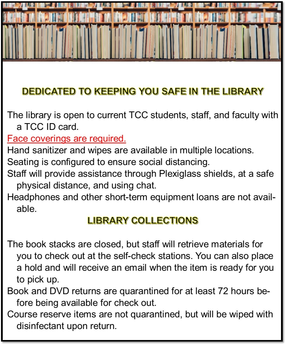 Image:  Keeping You Safe in the Library