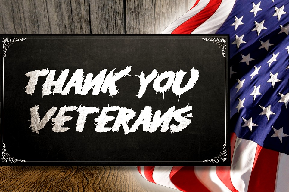 Image:  Thank You Veterans, Flag