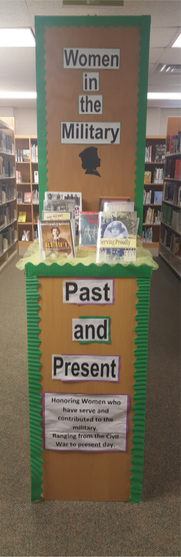 Women's History Month Display:  Women in the Military