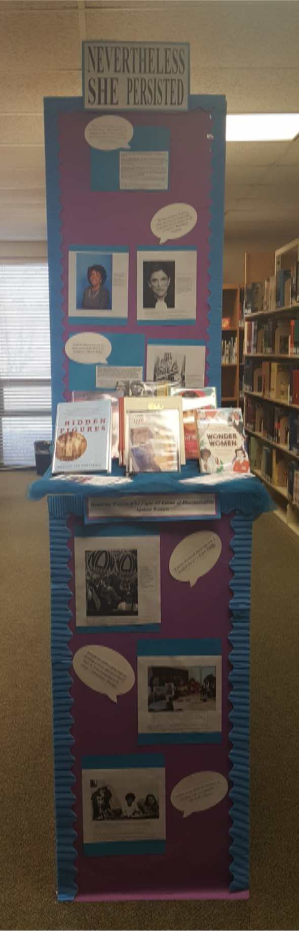 Image:  National Women's History Month Display