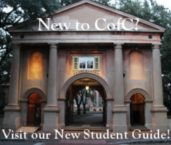 New to CofC? Visit our New Student Guide!