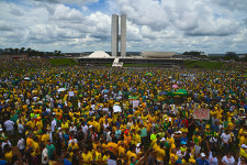 Photo of protests in Brazil in March 2015