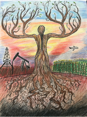 Drawing of a tree of life