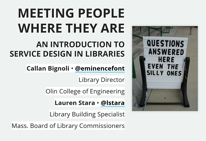 Meeting people where they are: an introduction to service design in libraries