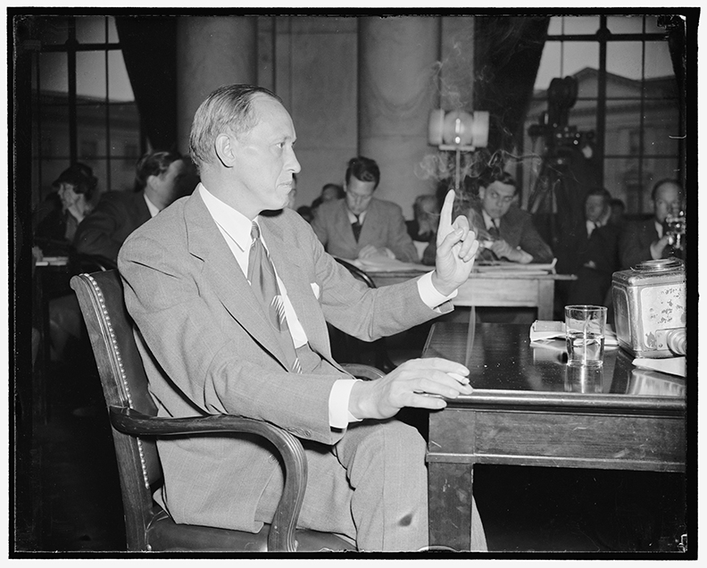 As the director of the Works Progress Administration, Harry Hopkins helped create jobs for millions of unemployed Americans, including those employed through the Federal Writers' Project.