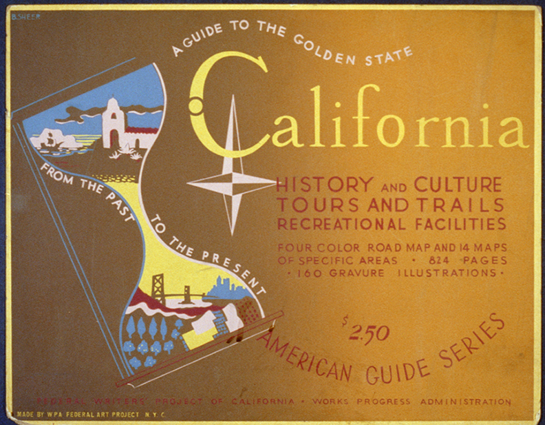 Poster for Federal Writers' Project of California advertising