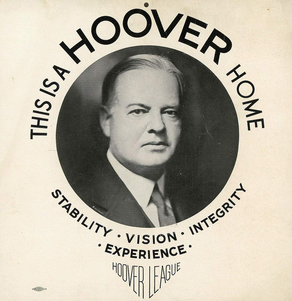 Hoover Campaign poster
