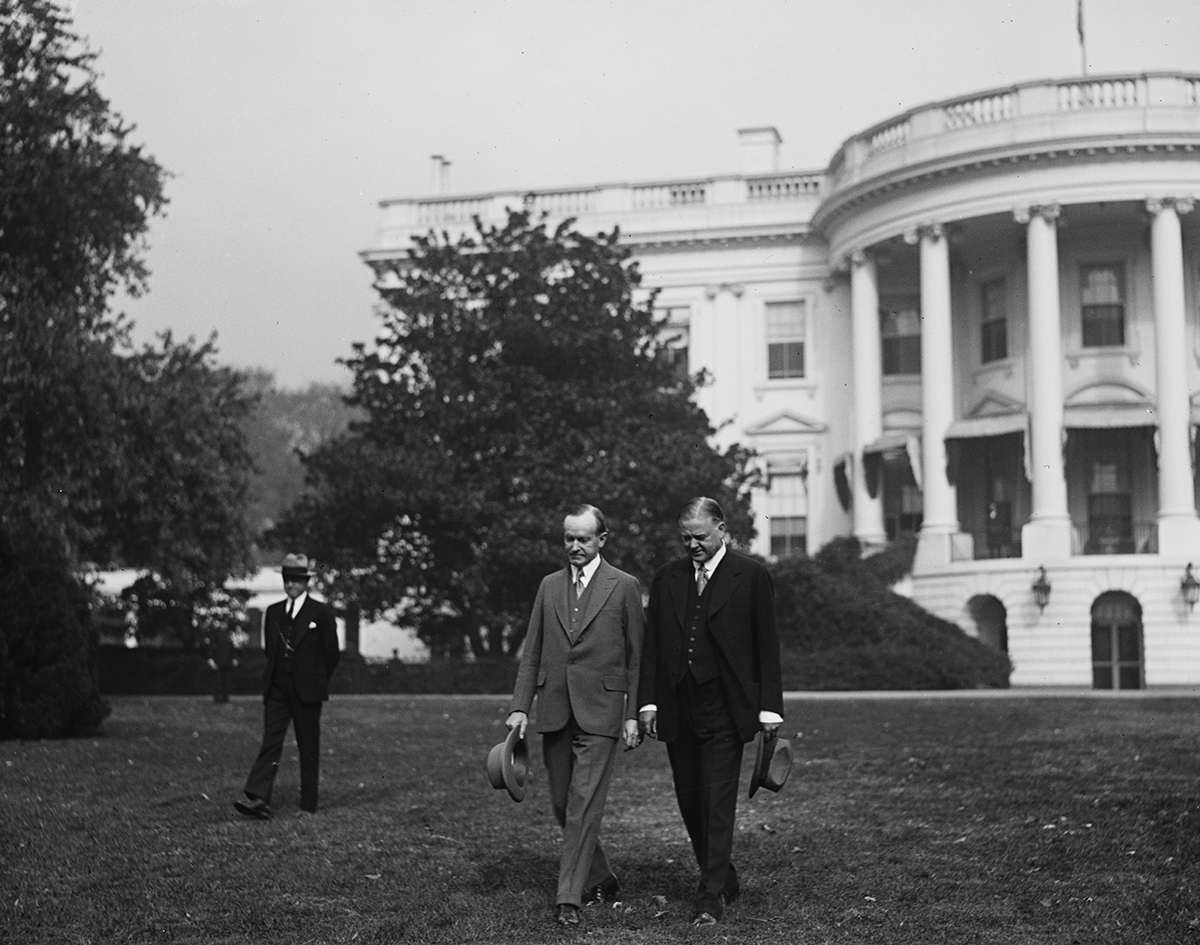 Hoover visits President Calvin Coolidge at the White House