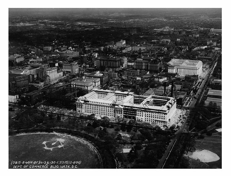 1930, Aerial view, northeast