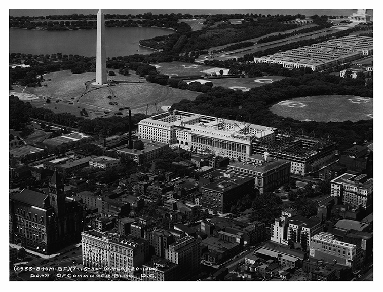 1930, Aerial view, Southwest
