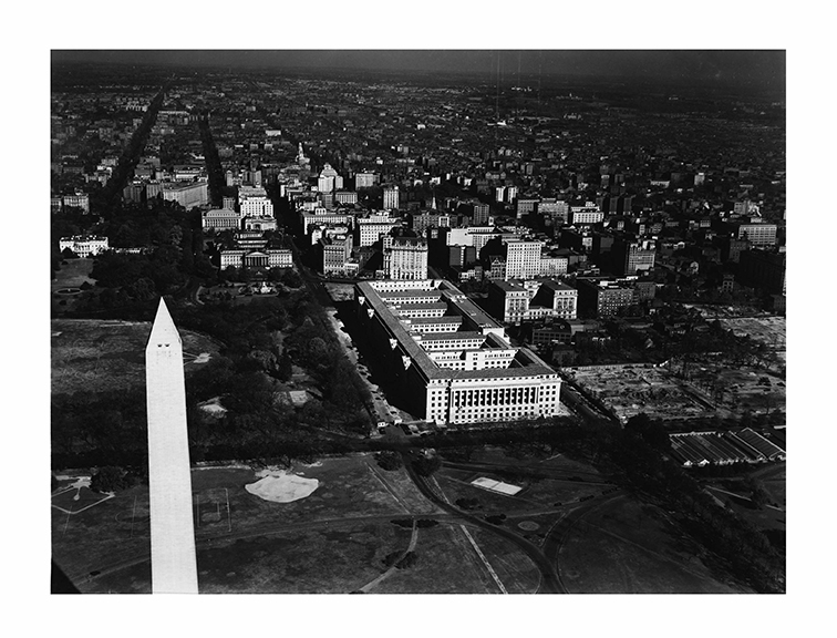 1933, Aerial view, North