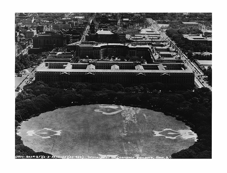 1933, Aerial view, East