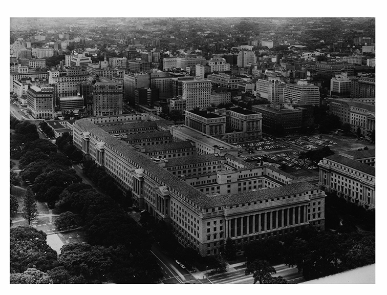 1933/34, Aerial view, Northeast