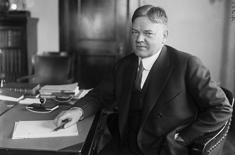 Hoover at his desk
