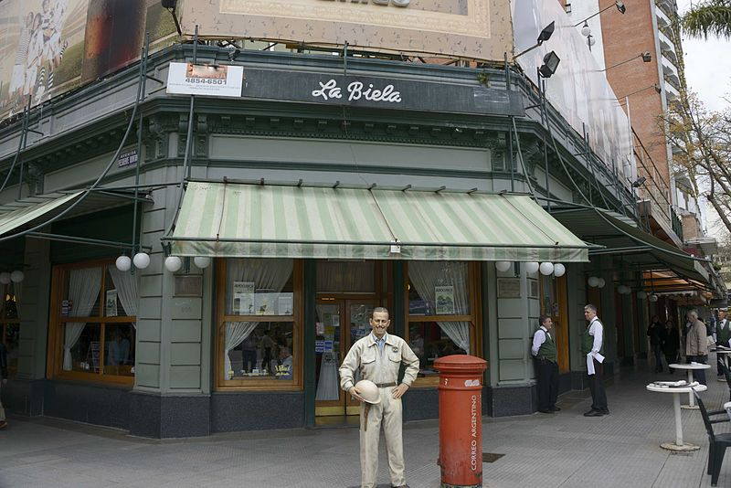 Café La Biela where authors Jorge Luis Borges and Adolfo Bioy Casares were known to hang out