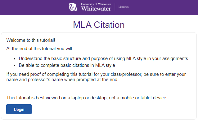 MLA Citation Tutorial-Click to Open