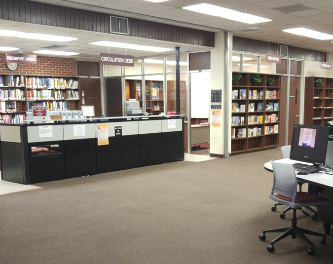 Circulation Desk and New Book area