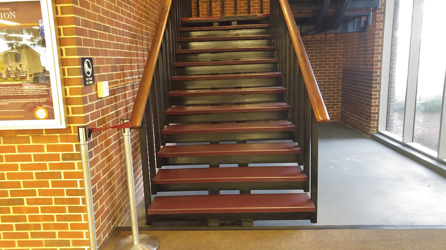 Library stairwell to second floor