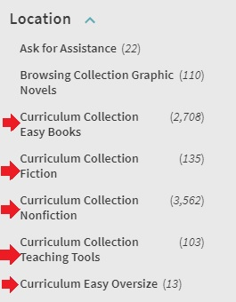curriculum collection locations