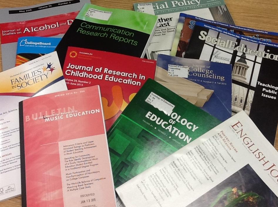 decorative image of academic journals