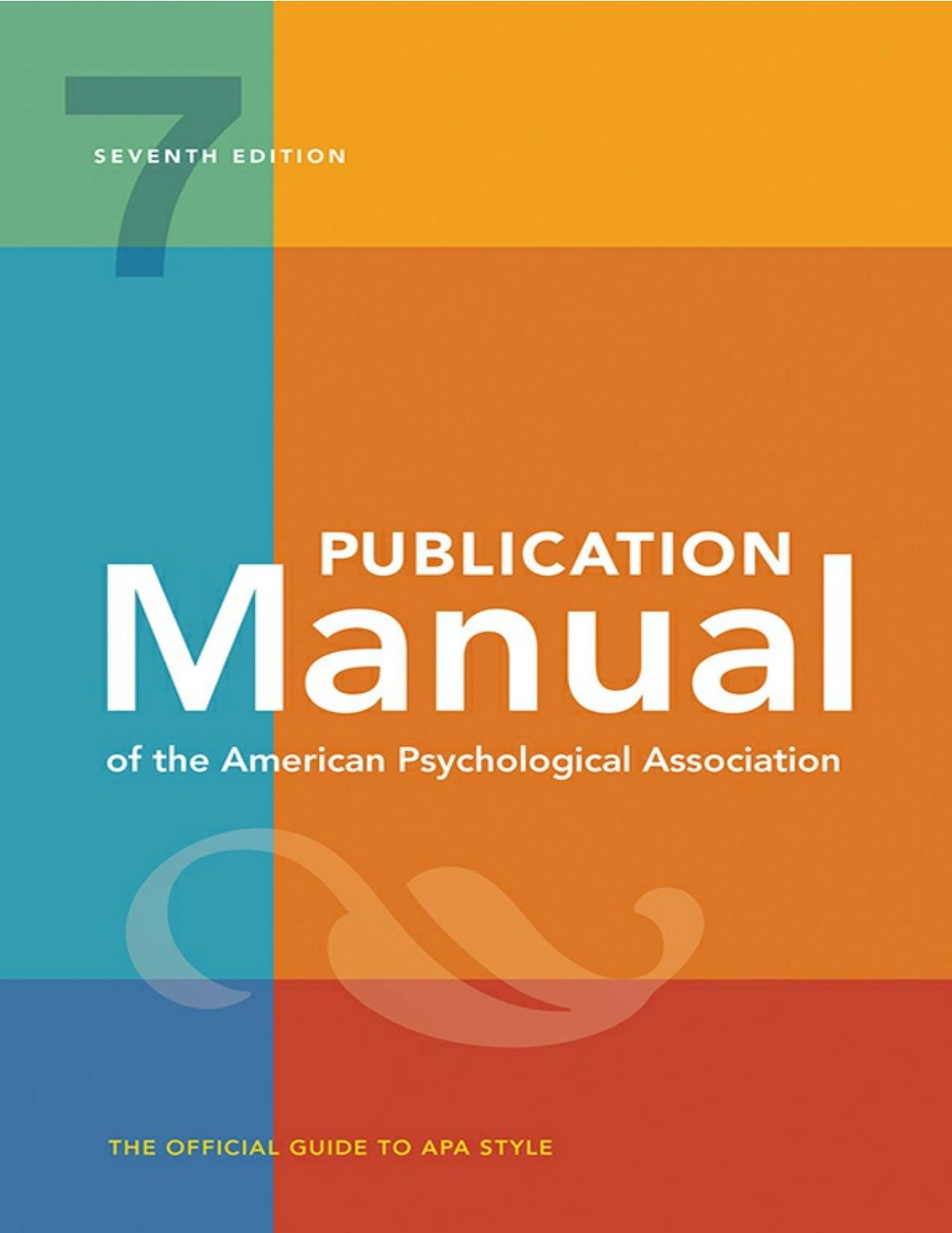 image of the APA publication manual cover