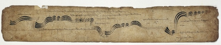 Tibetan Musical Score 42, leaves from a musical score, Wellcome Library, London