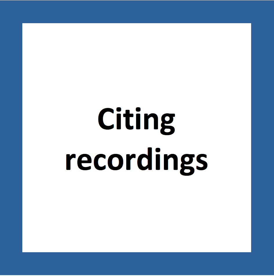 citing recordings