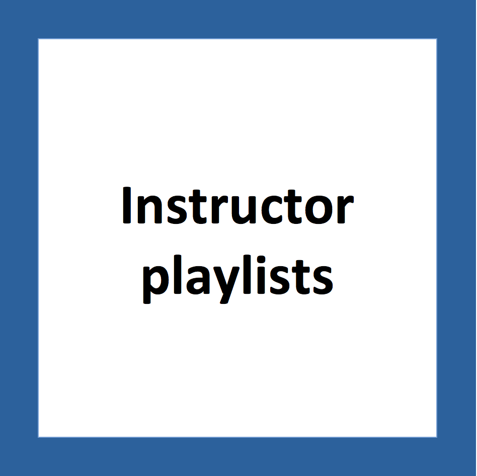 instructor playlists