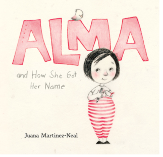 Book cover entitled Alma and How She Got Her Name