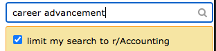 """subreddit search with words """"career advancement"""""""