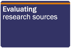 Evaluating research sources
