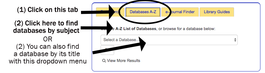 how to get to databases