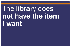 library does not have item I want