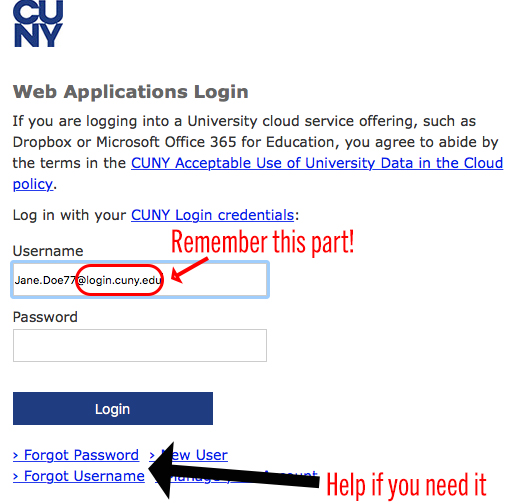 Login box to read articles from databases and ebooks from home