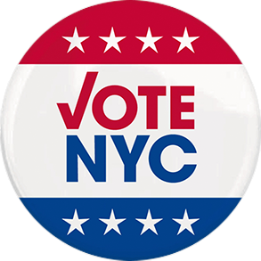 Vote NYC button