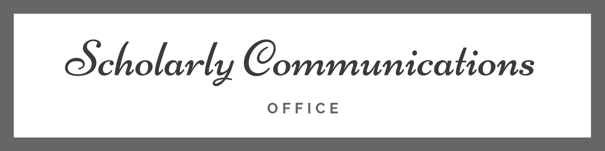 Scholarly Communications Office