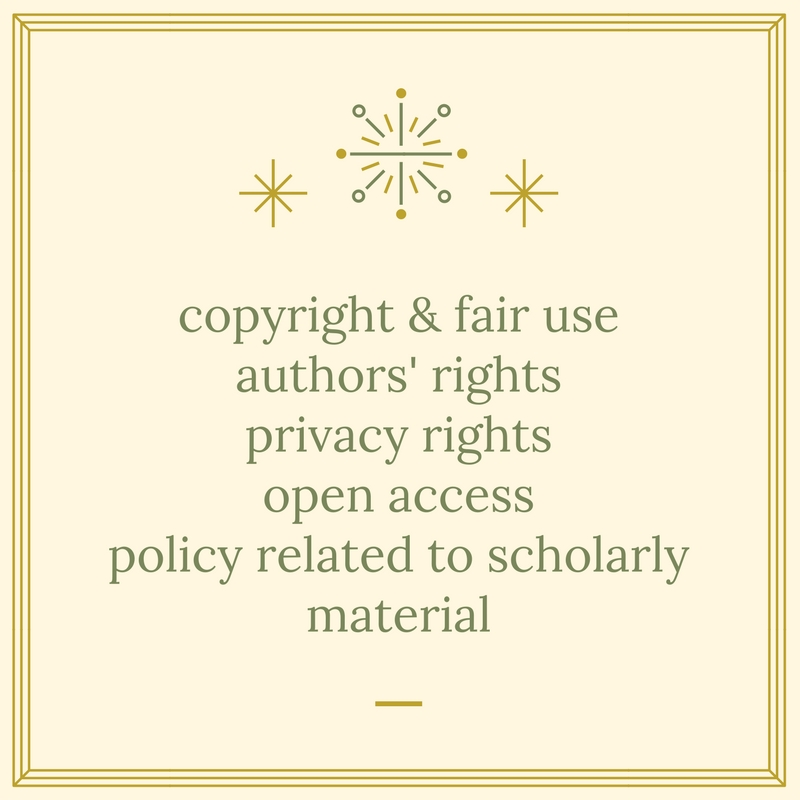 copyright & fair use authors' rights privacy rights open access policy related to scholarly material