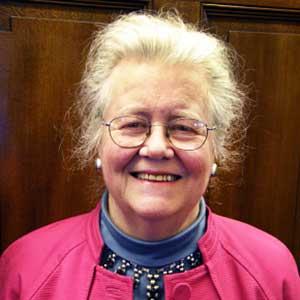 A portrait photograph of the author, Peggy McIntosh