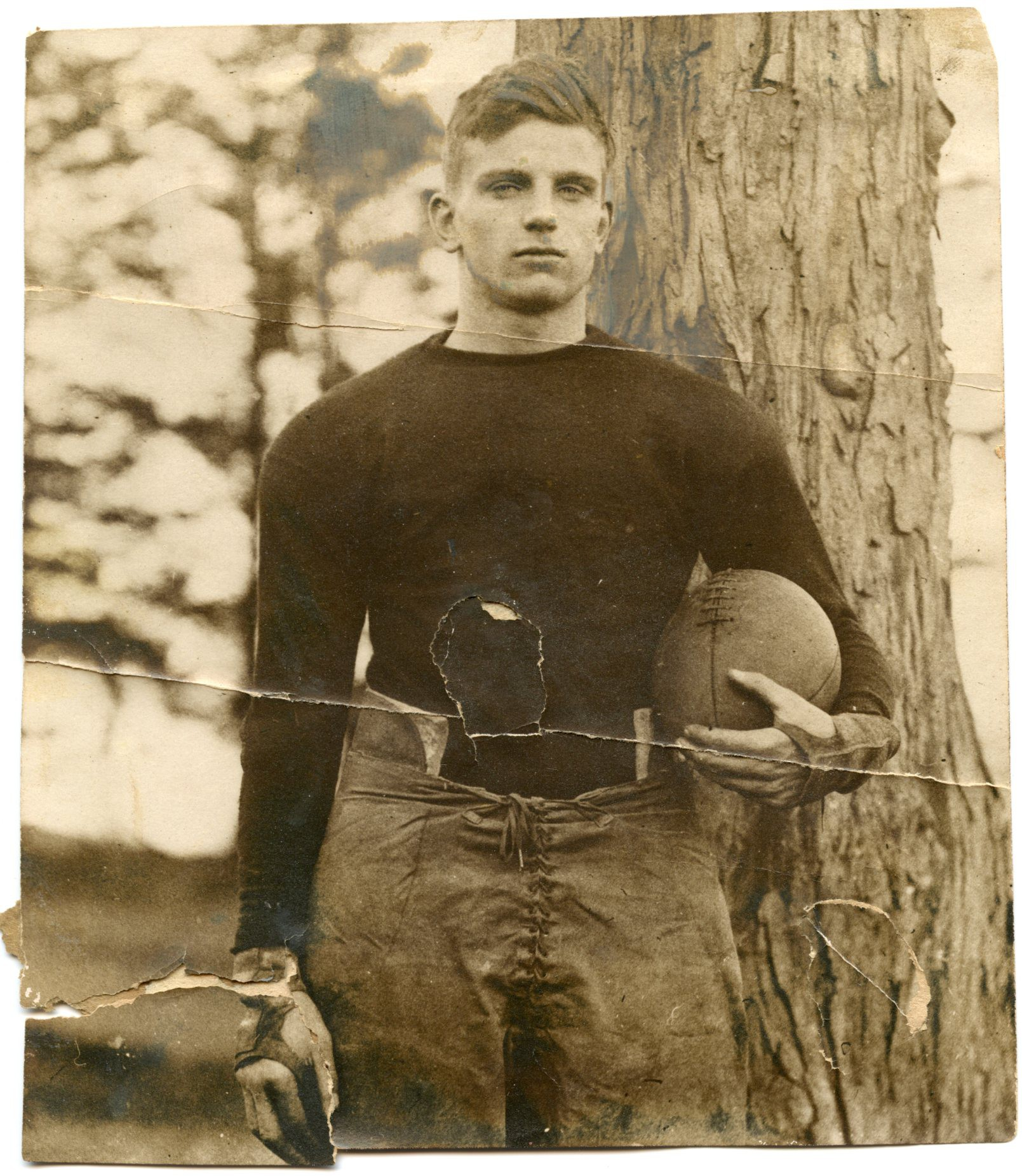 Image of football player, Maureace Dullea, ca. 1920