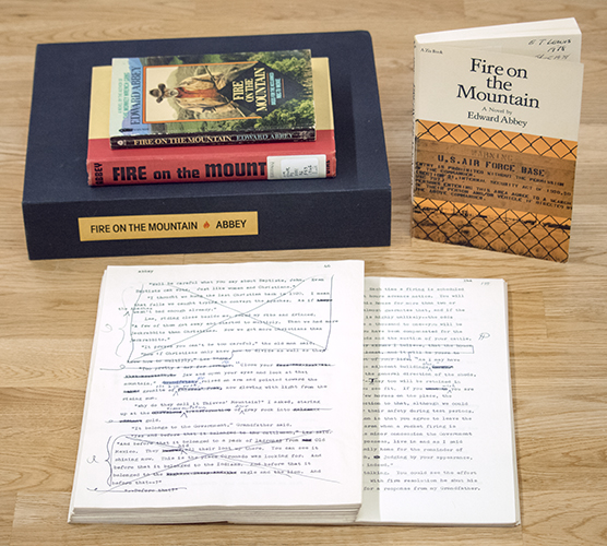 Manuscript and printed editions of Edward Abbey, Fire on the Mountain