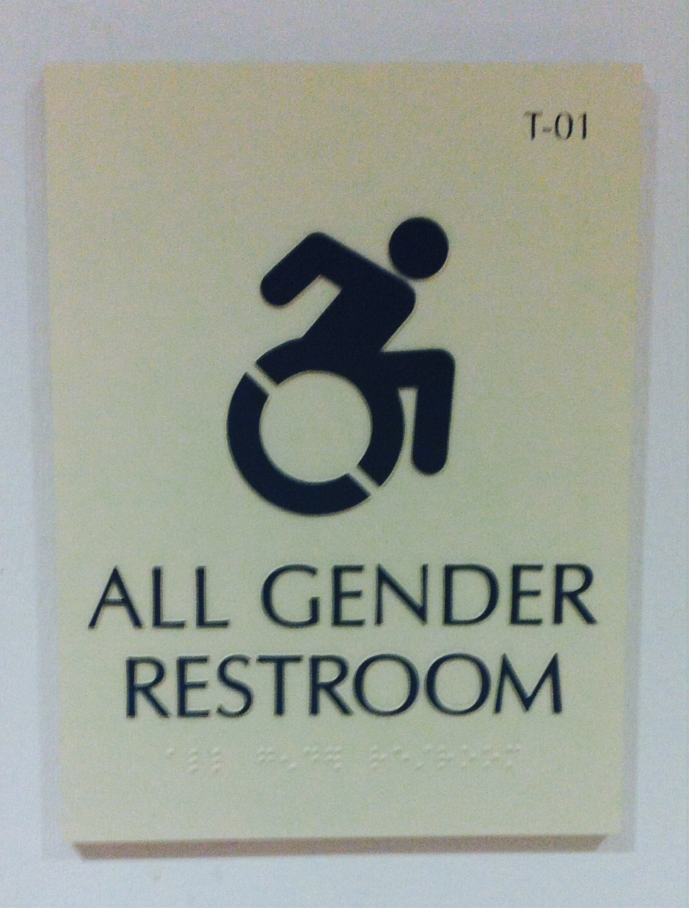 All-gender bathroom sign