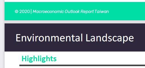Macroeconomic Outlook Repor Environmental Landscape