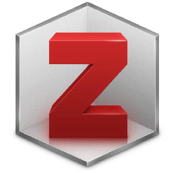 Zotero logo: grey hexagon with three dimensional red Z inside