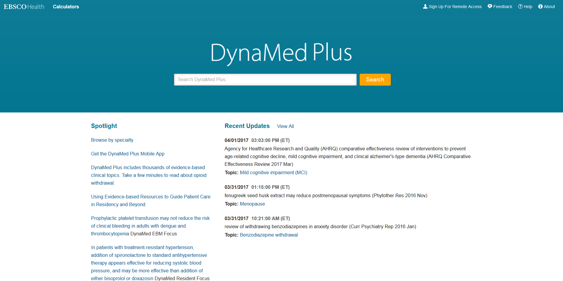 DynaMed Plus Screenshot