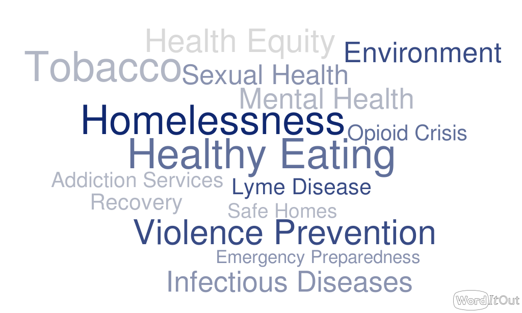 Word cloud with the words: